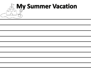 Summer Vacation Writing Pages -10