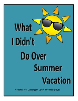 Summer Vacation Writing with a Twist