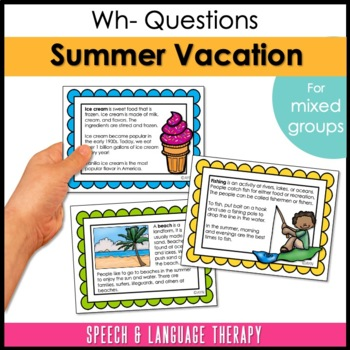 Summer Vacation for Speech & Language Therapy - Upper Elementary