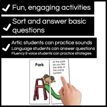 Summer Vacation for Speech & Language Therapy - Younger Elementary