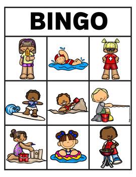 Summer Verb Bingo