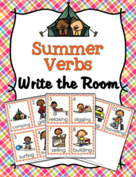 Summer Verbs Write The Room Activity