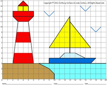Summer View - No Fractions (Coordinate Graphing)