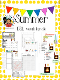 Summer - Vocab Bundle and Literacy Centers - ESL