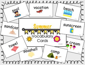 Summer Vocab Cards