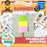 Summer Vocabulary Activities
