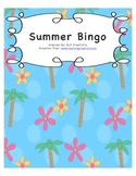 Summer Vocabulary Bingo