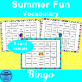 Summer Vocabulary Bingo Fun Freebie!