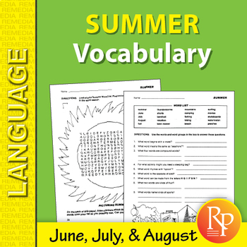 Summer: Vocabulary-Builder