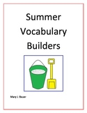 Summer Vocabulary Builders
