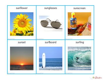 Summer Vocabulary Cards: PHOTO