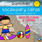 Summer Vocabulary Cards (Real Images and Clipart) - Pre-K/