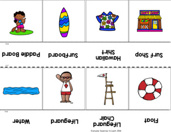 Summer Vocabulary Cards and Games