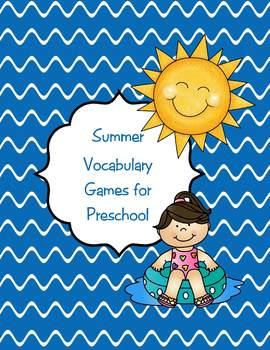Summer Vocabulary Games for Preschool