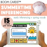 Summer Vocabulary Inferencing Boom Cards™