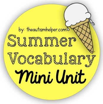 Summer Vocabulary Mini Unit {for Special Education}