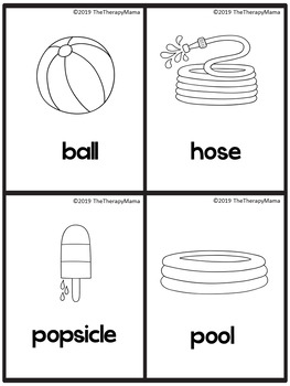 Summer Vocabulary Picture Cards