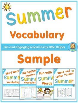 Free Summer Vocabulary Practice