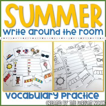 Summer Vocabulary Practice - Write The Room