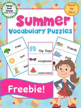 Summer Vocabulary Puzzles FREEBIE!