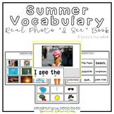 "Summer Vocabulary Real Photo ""I See"" Book for Special Education Classrooms"
