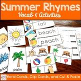 Summer Vocabulary Rhyming Activities