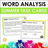 Summer Word Analysis Skills Task Cards