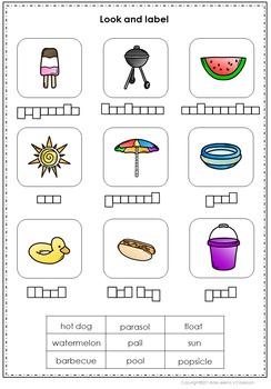 Summer Vocabulary Spelling Set