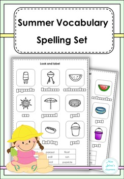 Summer Vocabulary Spelling Set