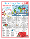 Summer Vocabulary (Synonyms) Crossword Puzzle & Word Search