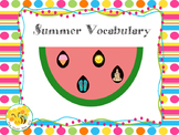 Summer Vocabulary Watermelon Craftivity