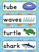 Summer Vocabulary Words (beach, camping, 4th July, grill)