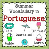 Summer Vocabulary in Portuguese/ Vocabulário de Verão em Português