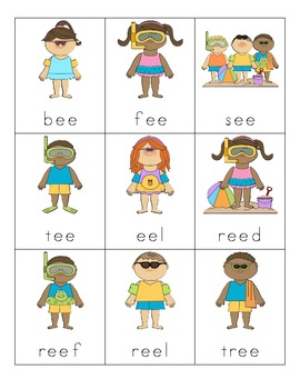 Summer Vowel Digraph Cards