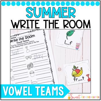 Summer Vowel Teams Write the Room