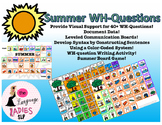 Summer WH-Question Visual Supports and Data