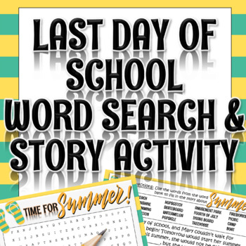 End of the Year Activity: Word Search