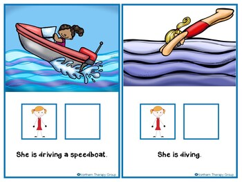 Summer Water Activities Interactive Vocabulary Book