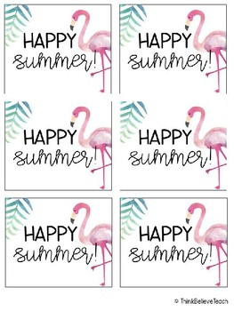 Summer Watercolor Gift Tags