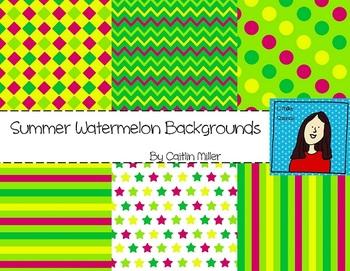 Summer Watermelon Backgrounds