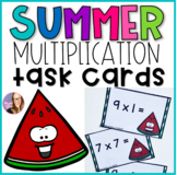 Summer Multiplication Fluency Task Cards- (Third and Fourth)