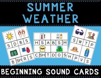 Summer Weather Beginning Sound Cards