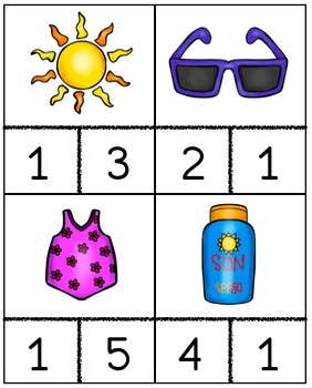 Summer Weather Counting Cards