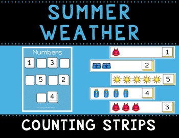 Summer Weather Counting Strips