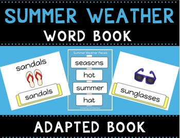 Summer Weather Leveled Word Books (Adapted Books)
