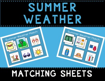 Summer Weather Match Sheets