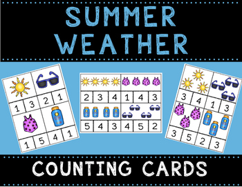 Summer Weather Math Bundle with Adapted Books