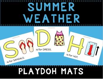Summer Weather Playdoh Mats
