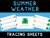 Summer Weather Tracing Sheets