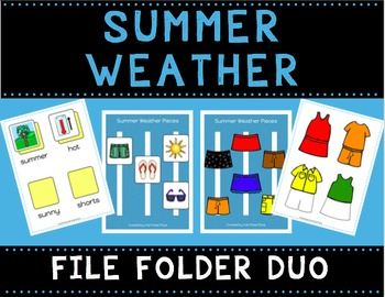 Summer Weather File Folder Duo